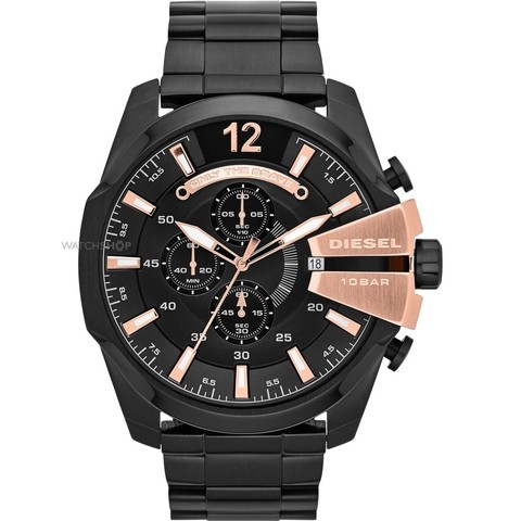 Relógio Diesel Mega Chief DZ4309 Black and Gold - comprar online