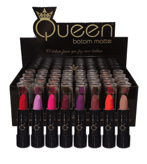 Batom Queen Matte Primavera display c/32 batons