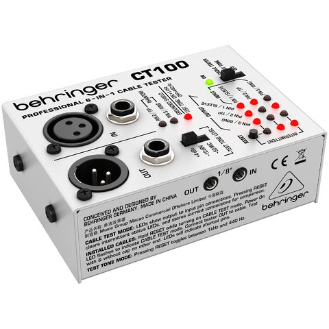 Behringer Cable Tester Ct-100 Testeador De Cables