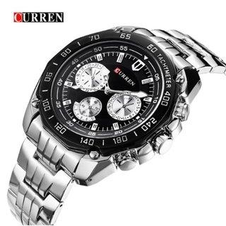 d72737017e2 Curren  8077 Relógio Masculino Aço Inox Resistente à Água