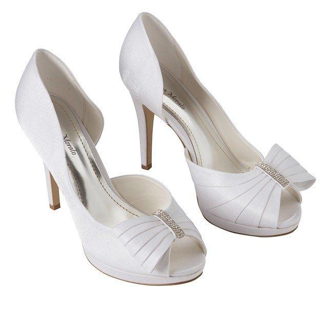 2ddc1defb2 sapato de cetim branco para noivas