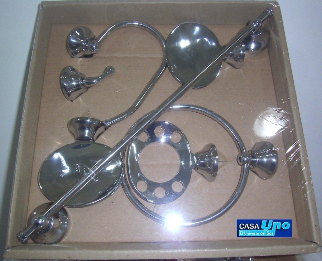 Juego set accesorios ba o 7 piezas bronce for Accesorios bano bronce