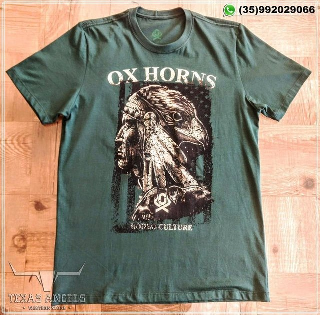 Camiseta Ox Horns e Carteira Avestruz