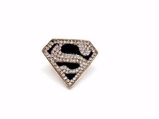 Anel Super Man com Strass na internet