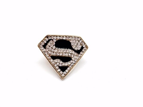 Anel Super Man com Strass
