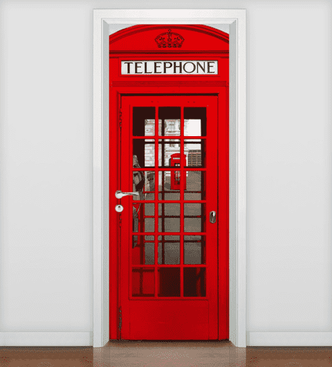 Adesivo de Porta Decorativo
