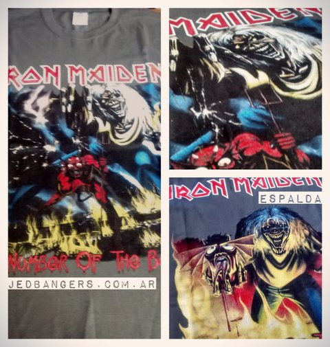 Remera Iron Maiden - The number of the Beast