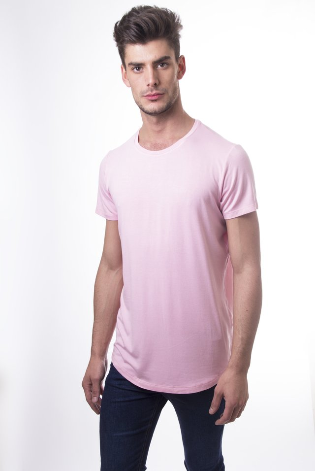 Remeron long fit pink Army - comprar online