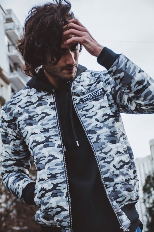 CAMPERA ARMY B&W