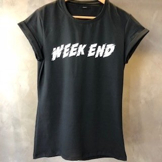 T-Shirt Week End black