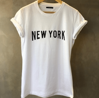 T-Shirt New York white