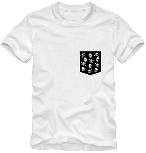 Camiseta Bolso Caveira - Milá