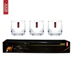 Crystal rock 6 vasos whisky premium