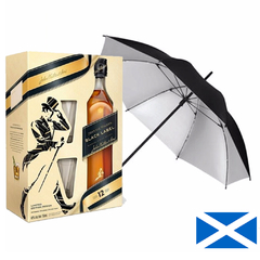 Johnnie Walker Black Label + 2 Vasos + paraguas - comprar online