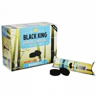 Carvão Pastilha  Black King 33 mm  Com 10