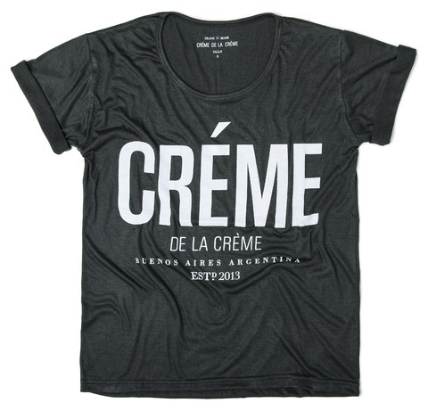 Remera Créme Verde Oscuro - RELAXED FIT