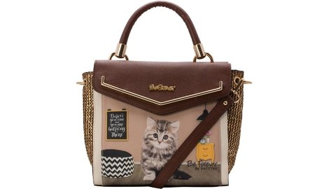 BOLSA TRANSVERSAL RAFITTHY BE FOREVER CAFE/ CREME REF: 31.71105