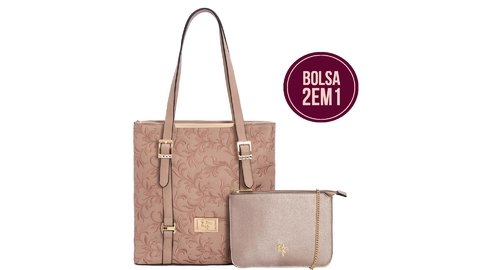 BOLSA RAFITTHY 2 EM 1 BE FOREVER REF: 32.82143 - LIGHT TAN