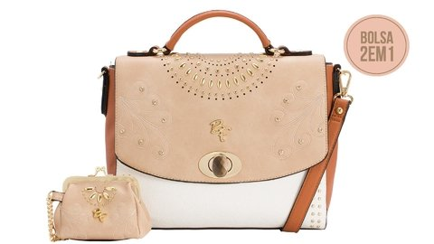 BOLSA TRANSVERSAL RAFITTHY BE FOREVER REF: 32.91130 - NATURAL/WHITE