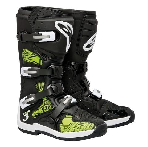 Bota Alpinestars Tech-3 Preta / Verde