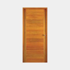 puerta de entrada de madera modelo machimbrada