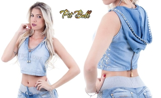Cropped Pit Bull Jeans P cód. 21836