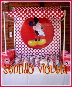 Candy Bar Fondo Temático Minnie Mickey Batman Kitty Pepe