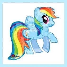 Globo Rainbow Dash Mi Pequeño Pony My Little Pony Apto Helio