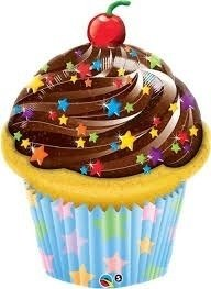Globo Qualatex Cupcake 35 Pulgadas Helio Candy Party