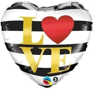 Globo Qualatex Love Corazon Amor Apto Helio