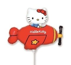 Globo Hello Kitty  Avion Rojo 30 Cm