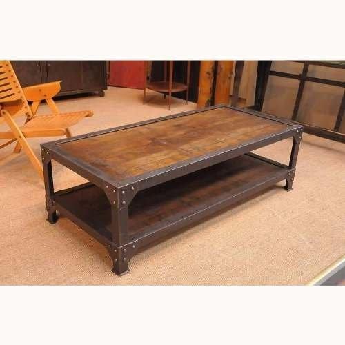 Mesa ratona estilo industrial madera zoita hierro arturo - Mesa madera hierro ...