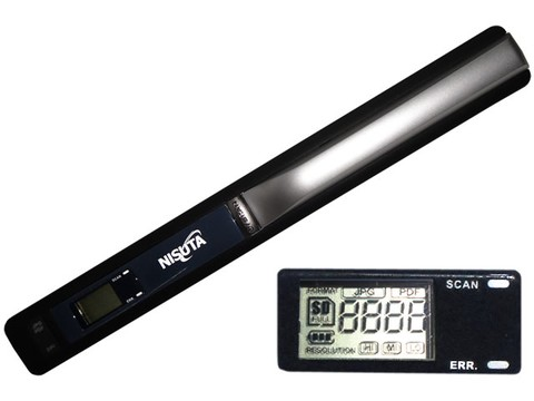 SCANNER NISUTA PORTATIL NS-SCPO9 900DPI c/DISPLAY LCD G/3 MESES