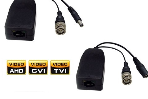 CS ADAPTADOR BALUN HD/ANALOG/AHD/CVI/TVI PASIVO VIDEO /POE G/3 MESES