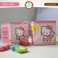 HELLO KITTY. Cajas Cubo