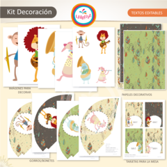 ANIMALES MUSICALES. Kit Decoración - Laralusa