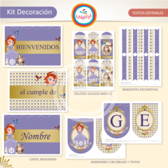 PRINCESA SOFIA. Kit Decoración - comprar online