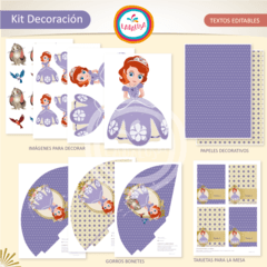 PRINCESA SOFIA. Kit Decoración - Laralusa