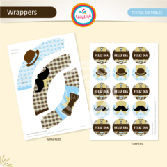DIA DEL PADRE. Wrappers y Toppers - comprar online