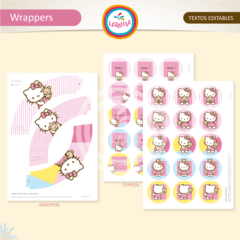 HELLO KITTY. Wrappers y Toppers - tienda online