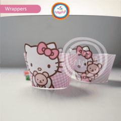 HELLO KITTY. Wrappers y Toppers