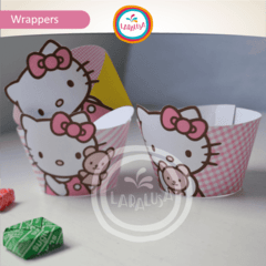 HELLO KITTY. Wrappers y Toppers - Laralusa