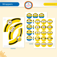 MINIONS. Wrappers y Toppers - tienda online