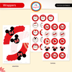 MINNIE ROJO. Wrappers y Toppers en internet
