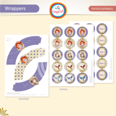 PRINCESA SOFIA. Wrappers y Toppers  - comprar online