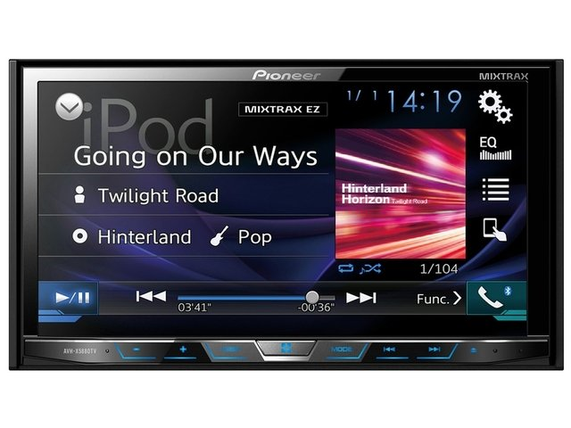 DVD Player Automotivo Pioneer Avh-X5880Tv 2-Din com TV Digital Bluetooth USB 7 Polegadas e Mixtrax