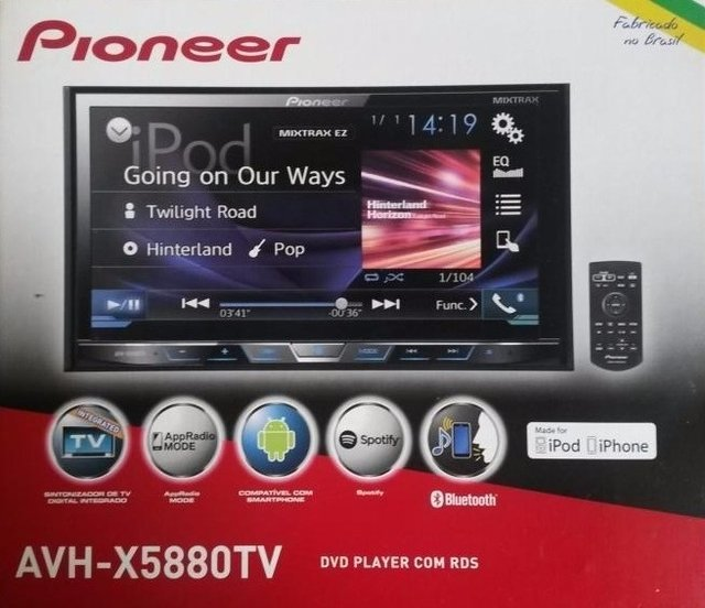 Imagem do DVD Player Automotivo Pioneer Avh-X5880Tv 2-Din com TV Digital Bluetooth USB 7 Polegadas e Mixtrax