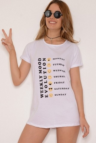 Remeron de Algodón Estampa Emoticones EM