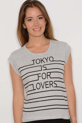 Remera Manga Corta Algodón Estampa Tokyo Is For Lovers