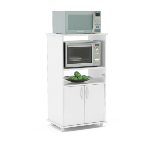 Mueble organizador de cocina con espacio para microondas for Mueble microondas